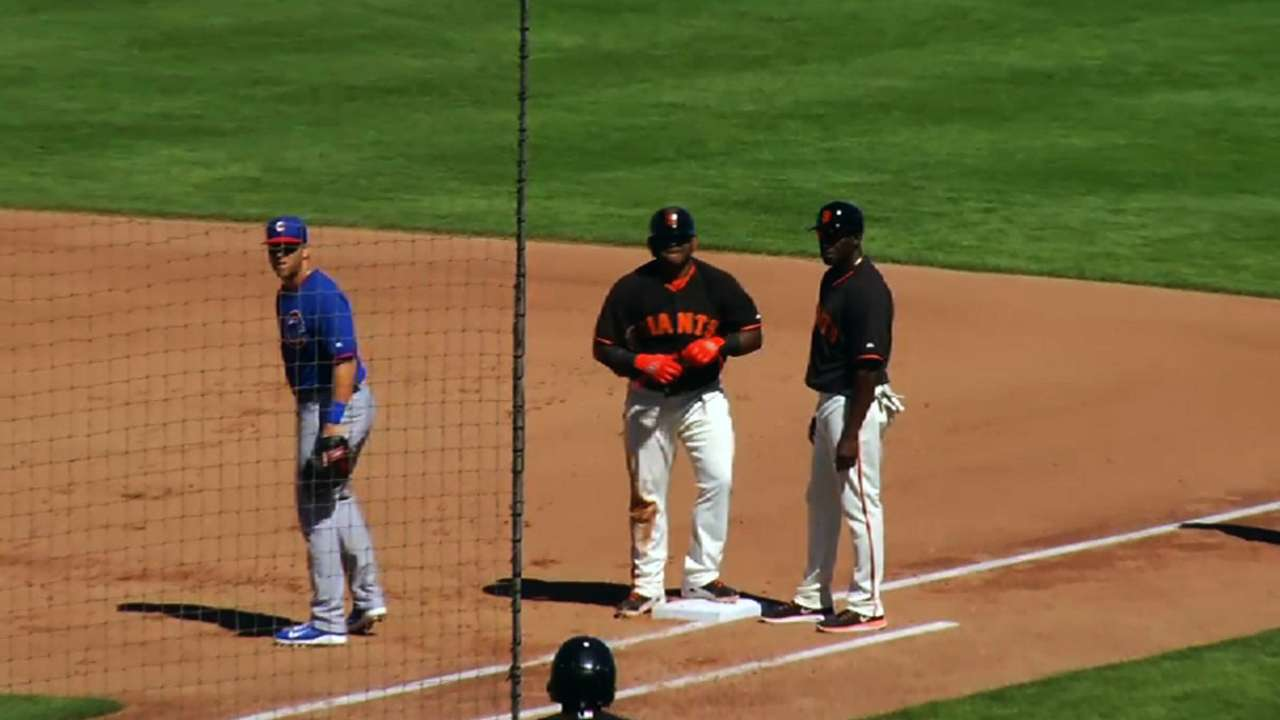Giants edged by Cubs after Cain's perfect outing