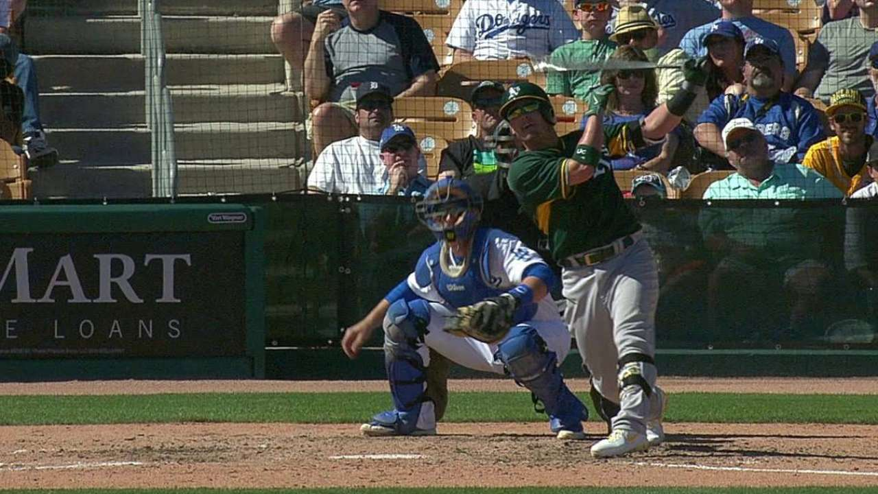 Donaldson and Taylor lead A's offensive outburst
