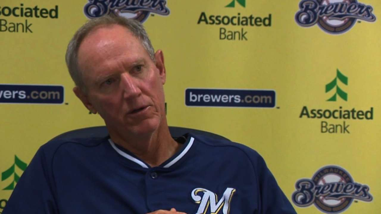Weeks competing to keep job with Brewers