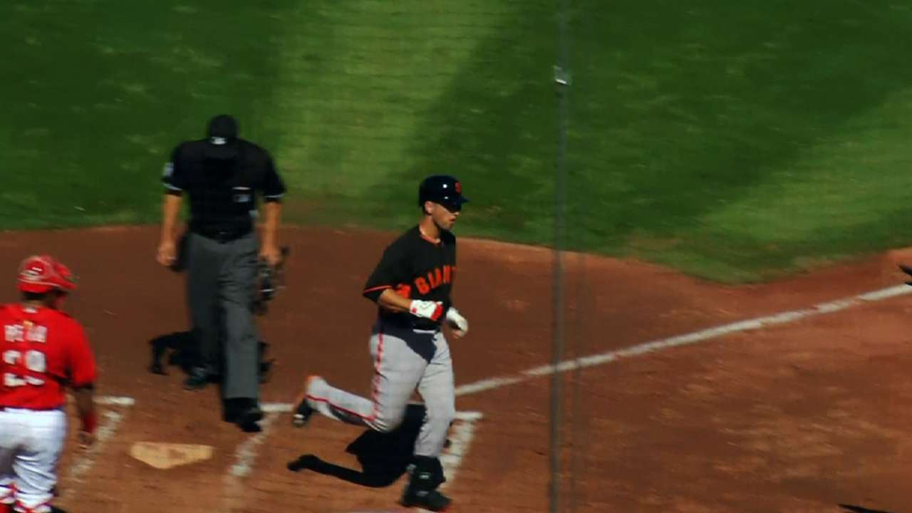 Posey finds hitting groove with first homer