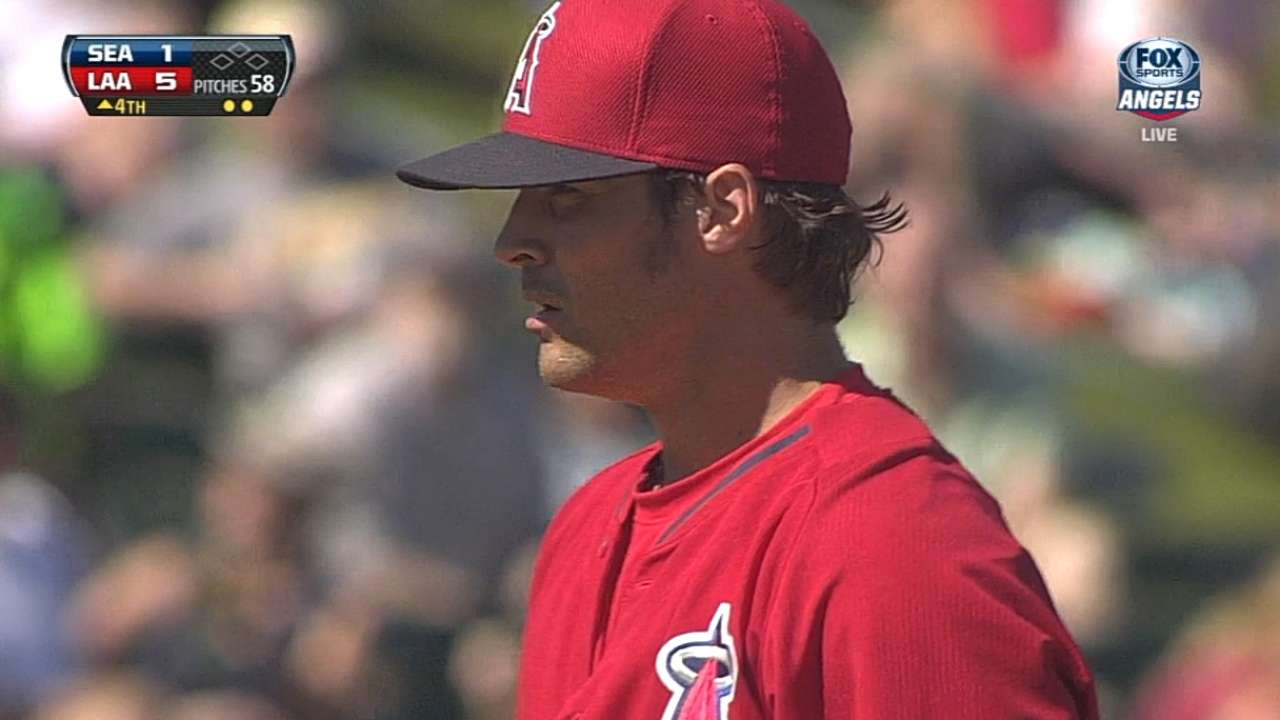 Wilson sharp, backed by bats before Angels fall
