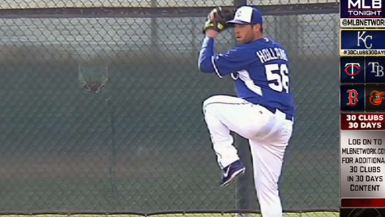 Royals bullpen takes shape behind closer Holland