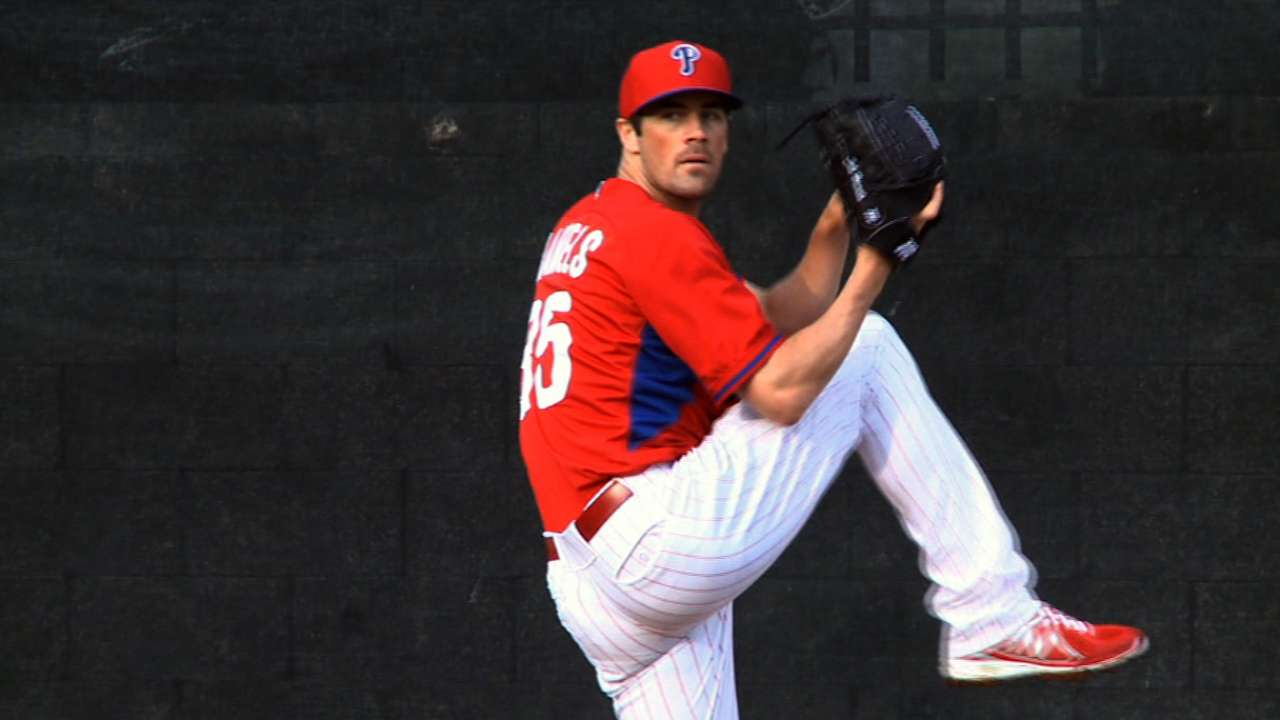 Hamels feels fine day after return to mound