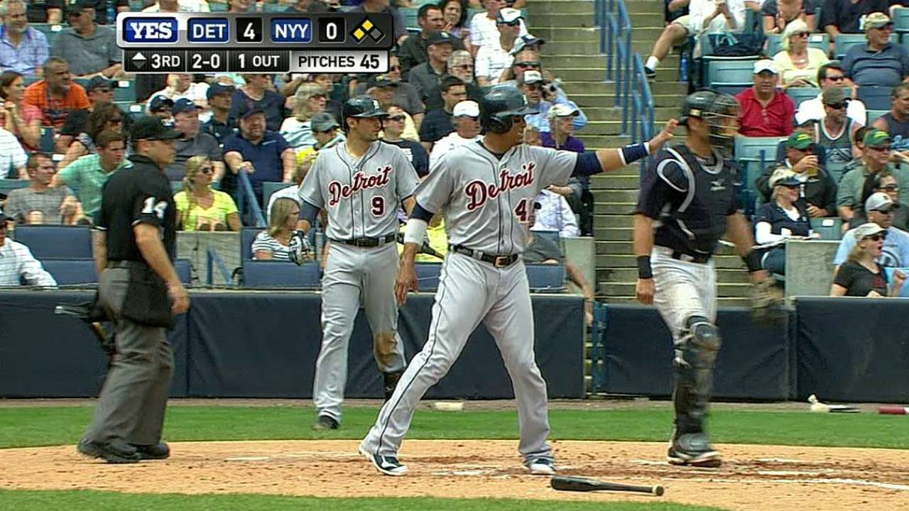 Anibal in prime form as Tigers strike fast vs. Yanks