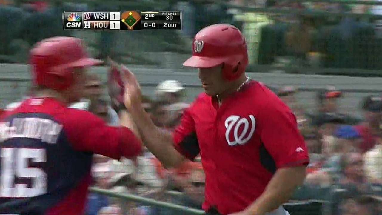 Fontenot knocks in three runs for Nats