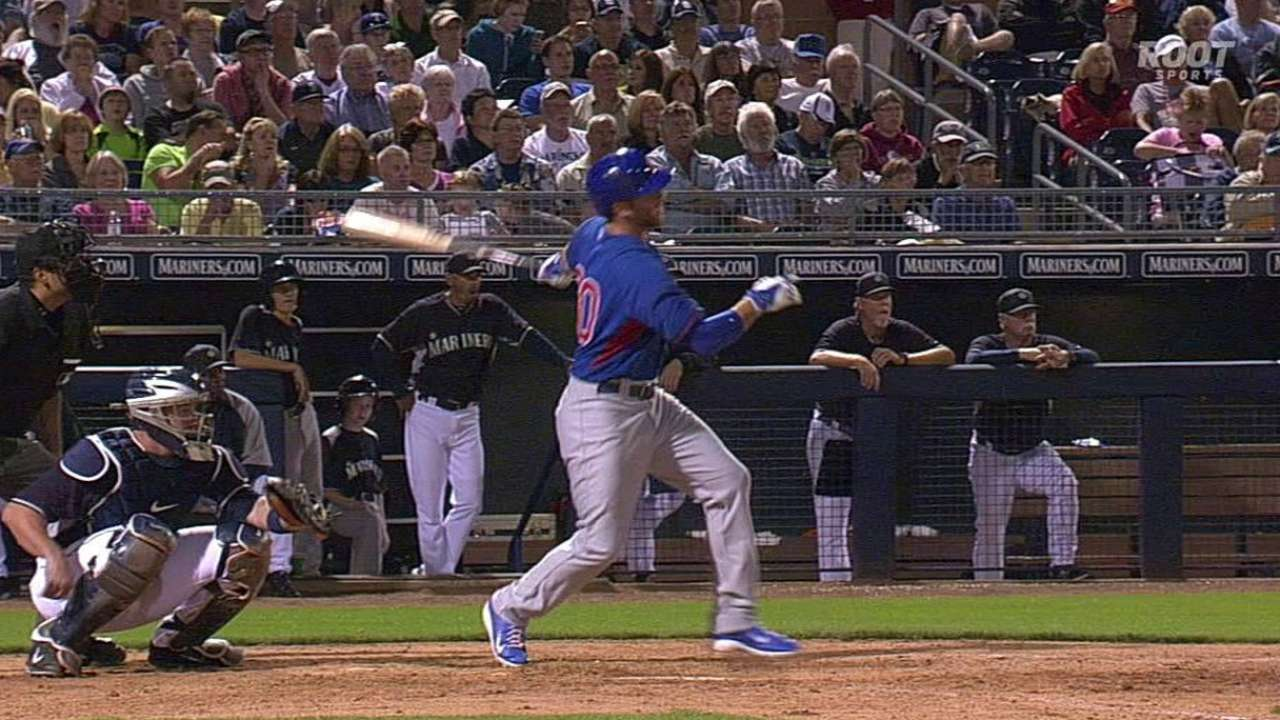 Olt homers twice and Baez drills another