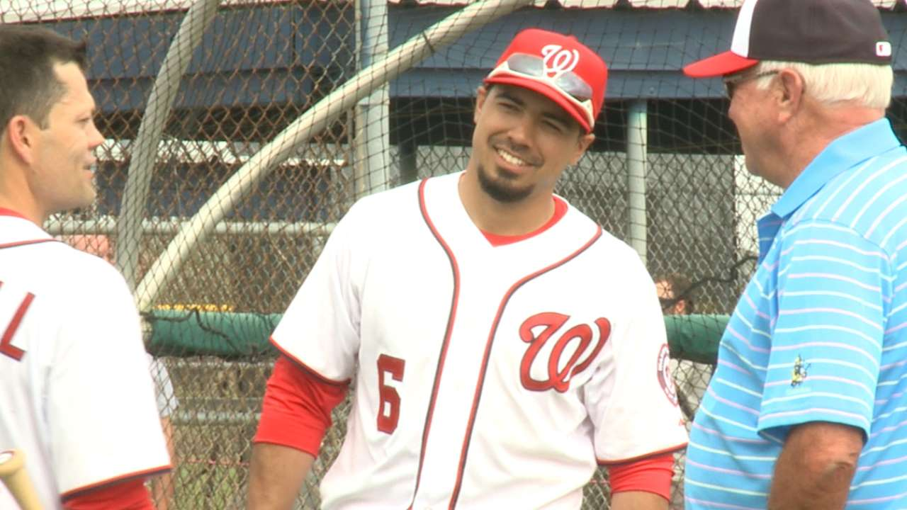 Rendon dealing with chest cold, stays in Viera