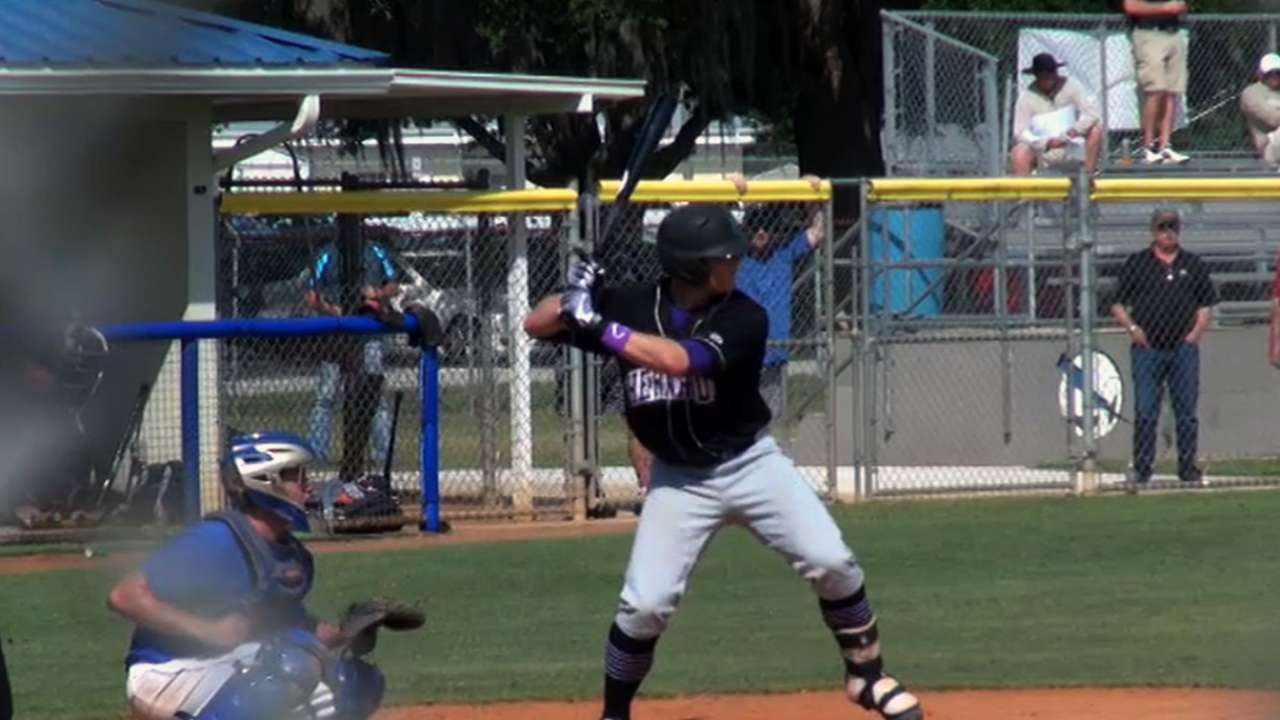 Giants first-rounder Arroyo hits first homer