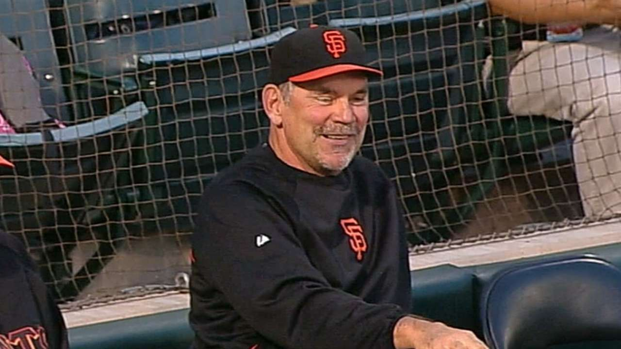 Dunston to be Bochy's eyes on video replays