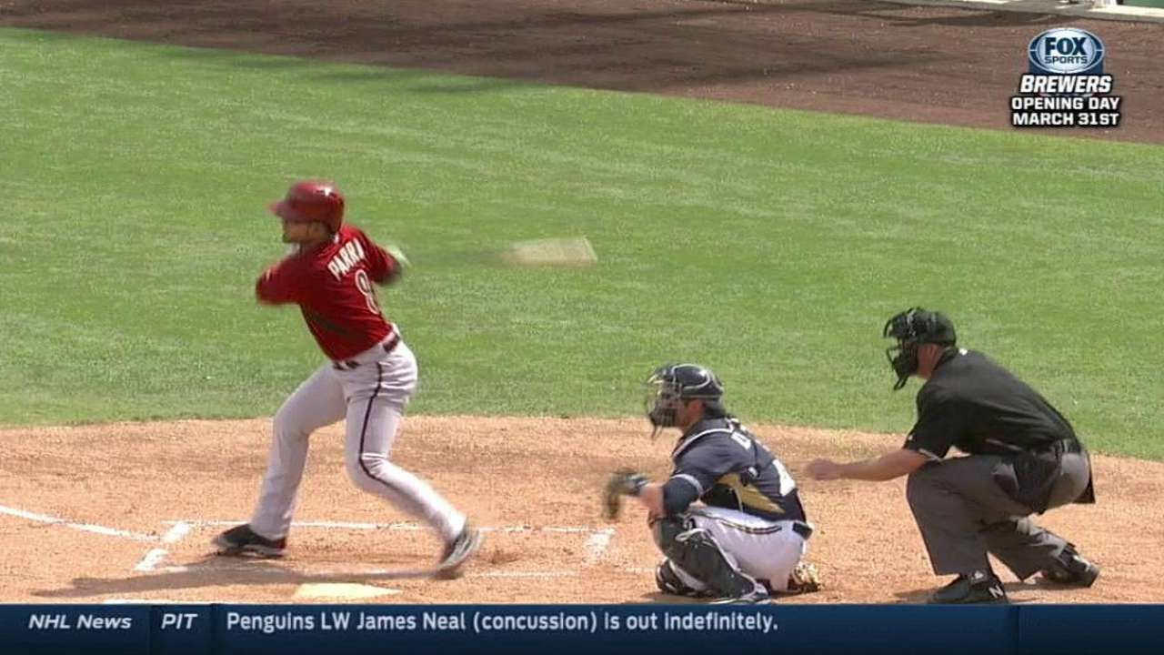 Parra's big day, late homers not enough for D-backs