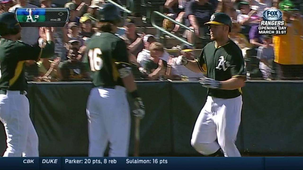 Moss' two-homer day paces A's onslaught