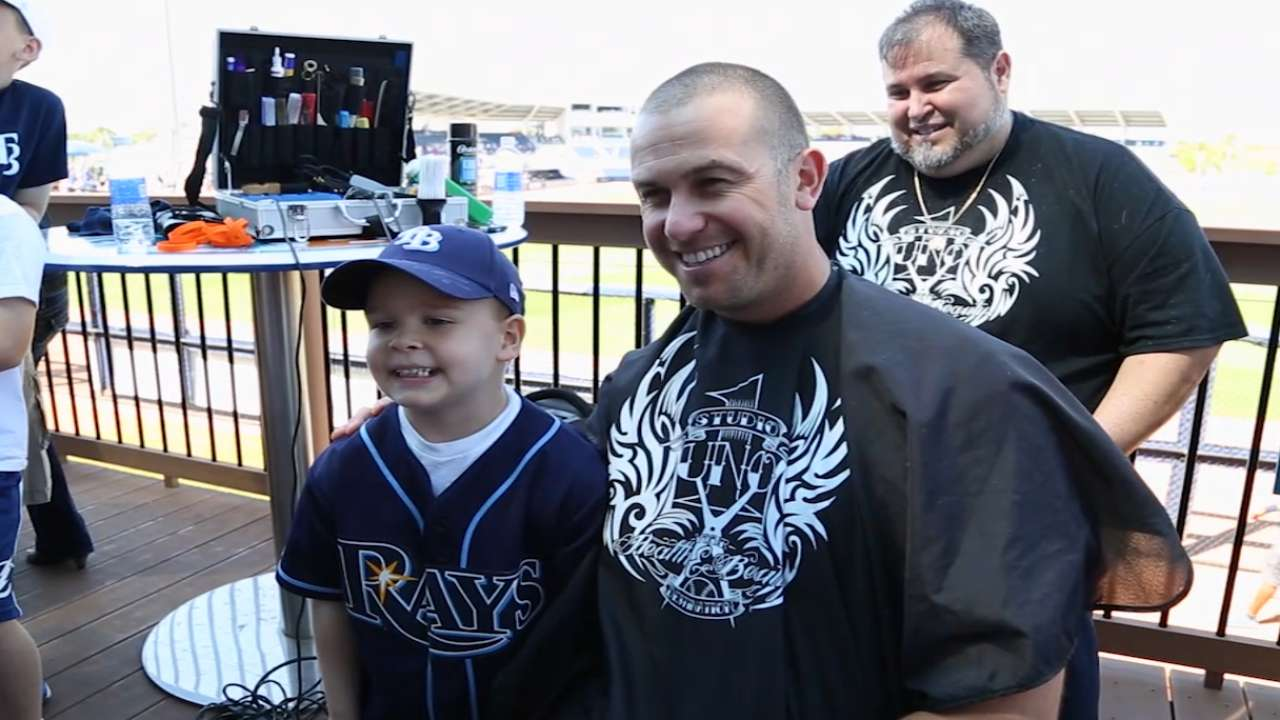 Rays raise awareness for Pediatric Cancer Foundation