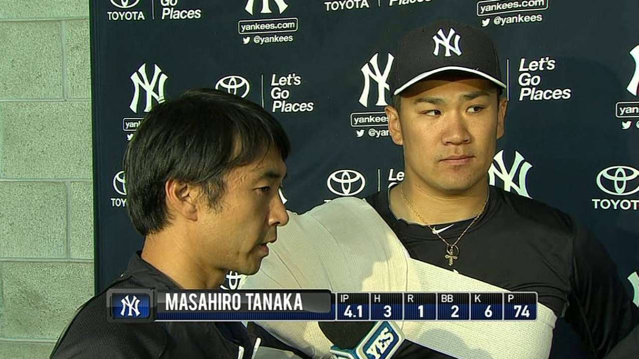 So far, Tanaka's transition has been seamless