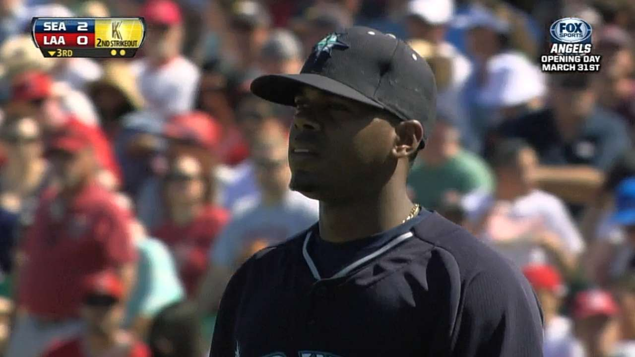 Elias pushing to make leap into Mariners rotation