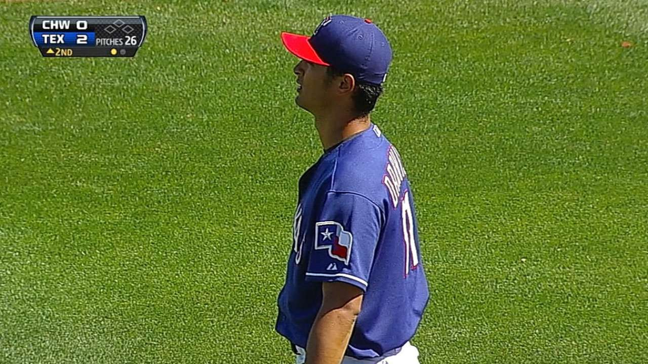 Darvish's next throwing session to help map return