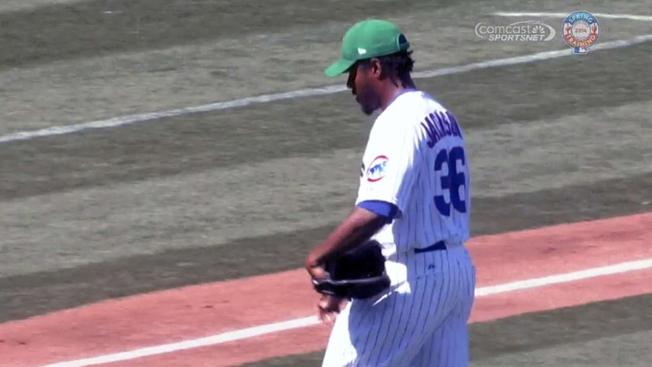 Jackson's four scoreless guides Cubs to spring win