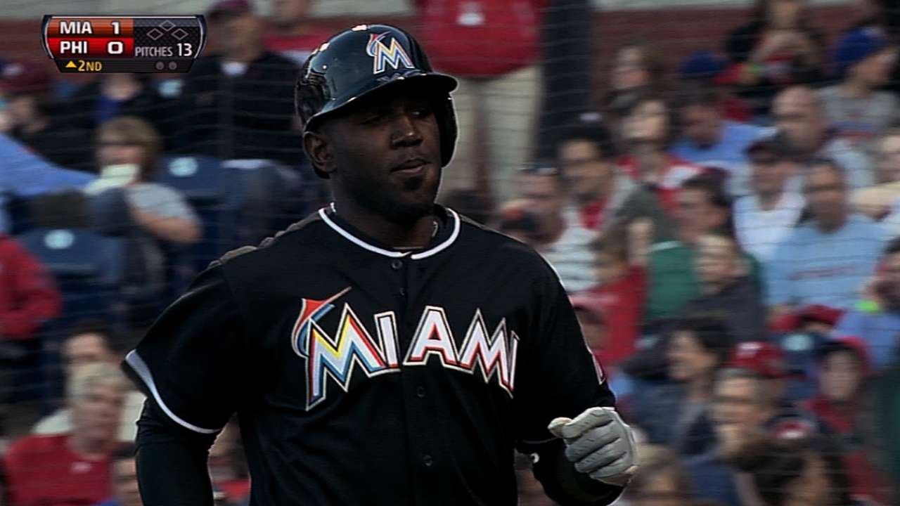 Ozuna looking to land job in Marlins' outfield