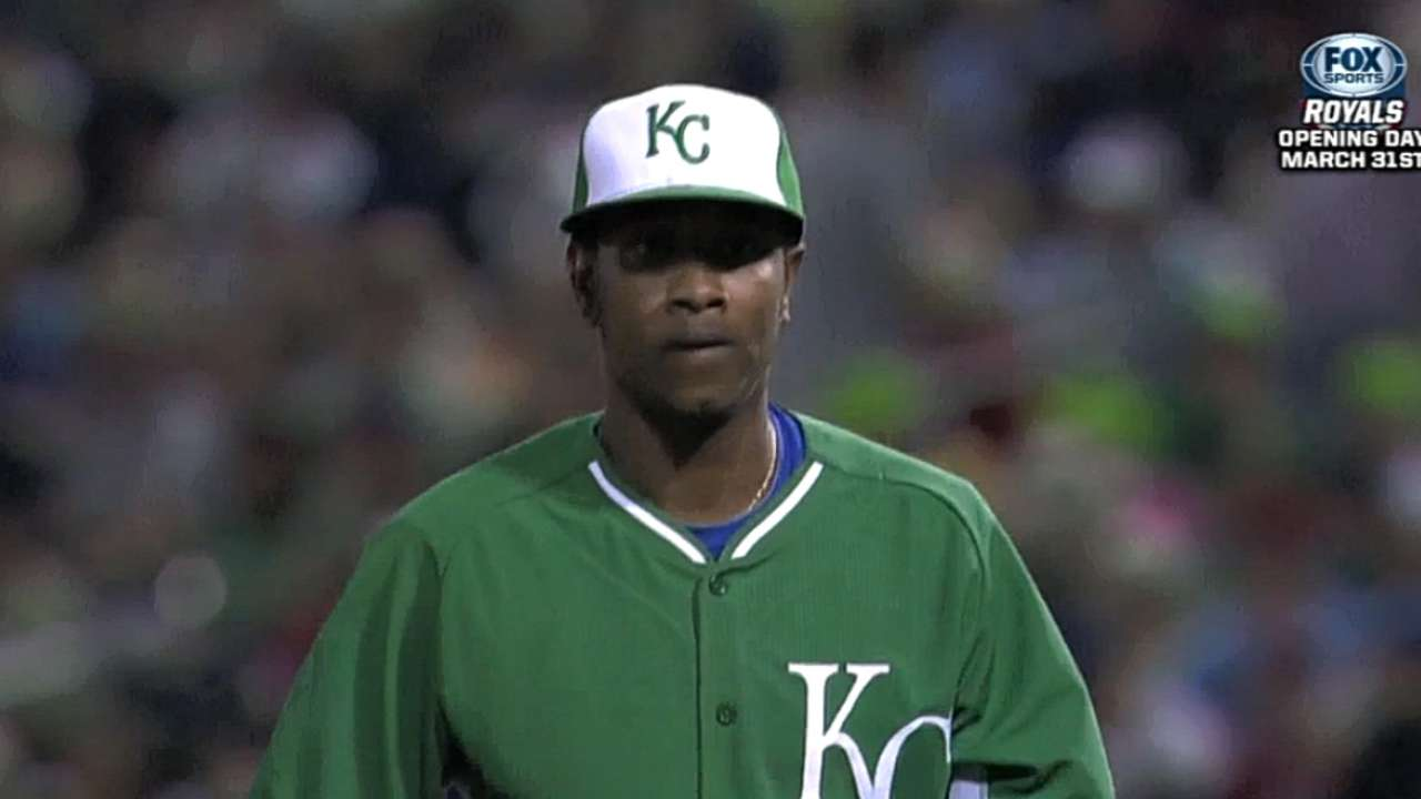 Yost names Ventura as Royals' No. 3 starter