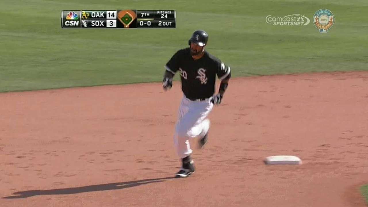 Quintana gives up nine runs; Sox hit four homers