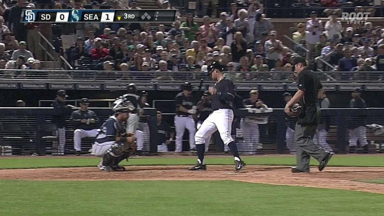 Miller hits fourth homer to back Wolf's rotation bid