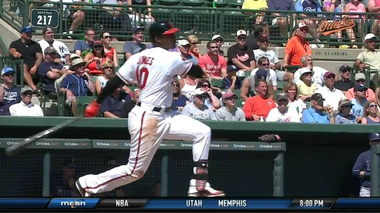 Jones supplies nearly all of O's offense in loss