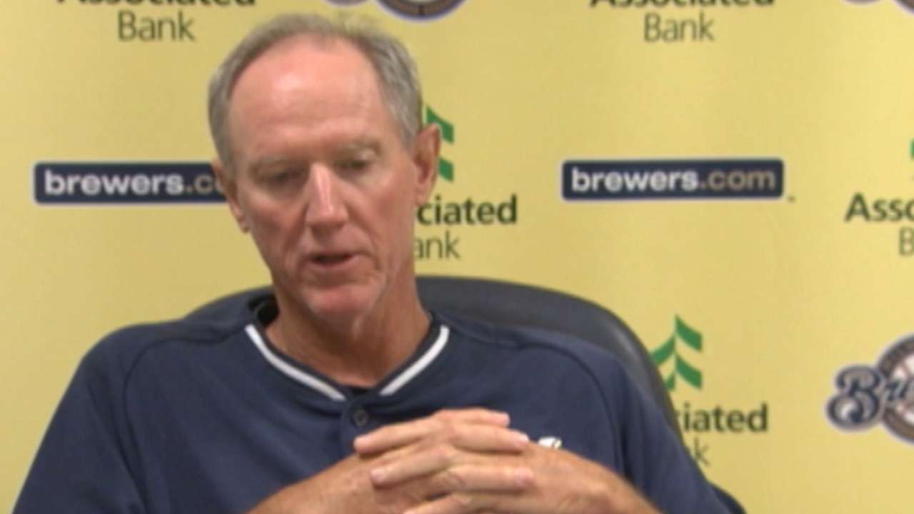 Brewers' bench plan coming into focus