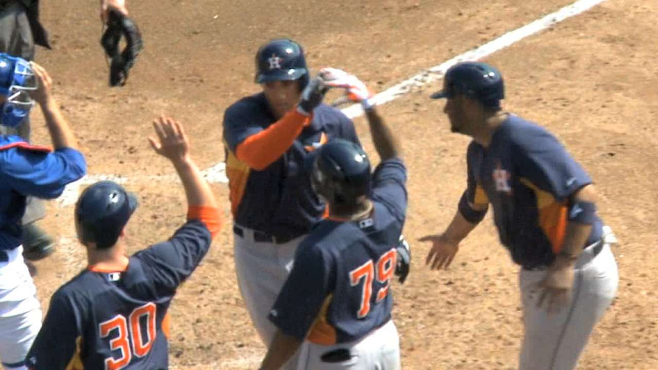 Astros cut six prized prospects from spring roster