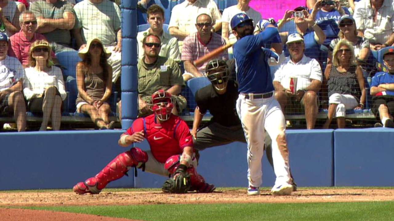 Bautista belts pair of homers in win over Phillies