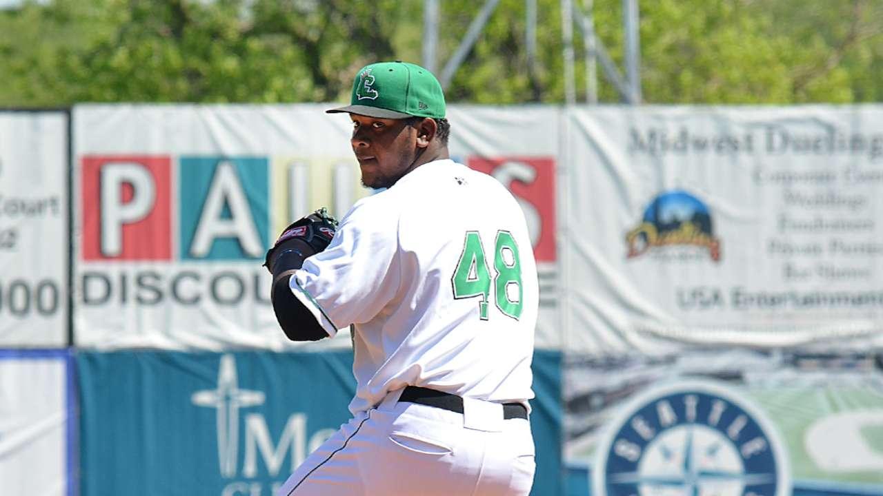 Prospect Sanchez twirls two-hit shutout