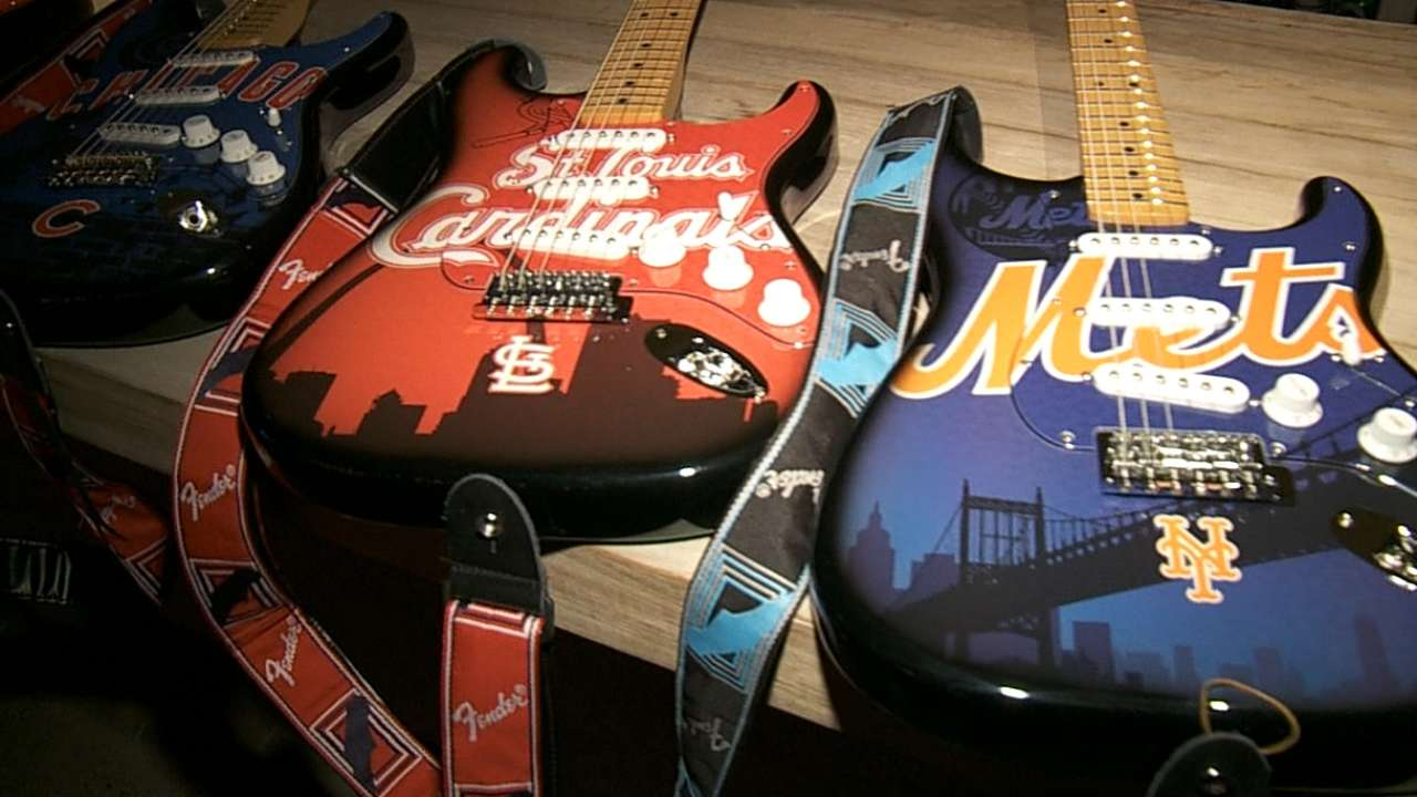 Fender, MLB link up for team-themed Stratocasters