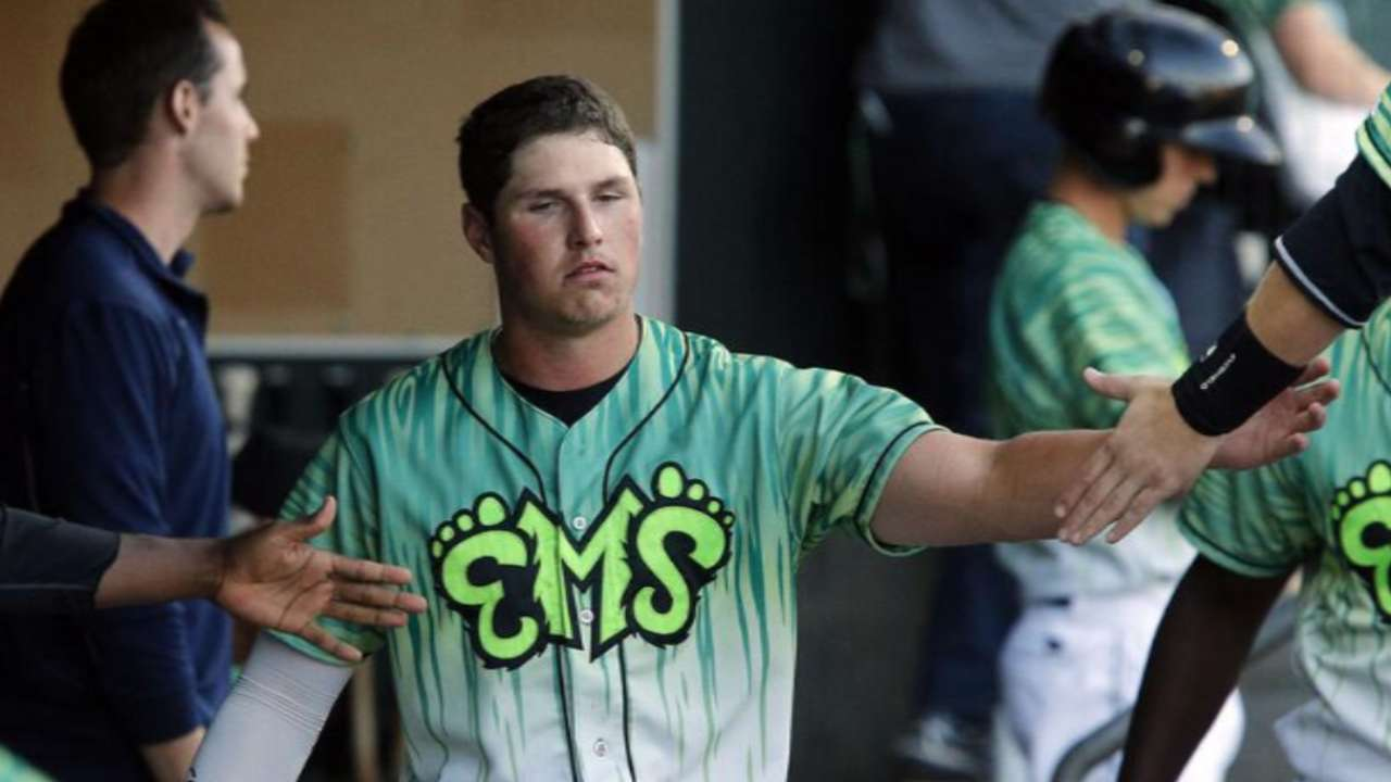 Prospect Renfroe providing pop in tough ballpark