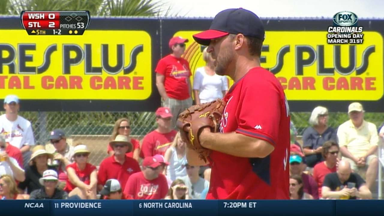 Wainwright spins eight shutout frames vs. Nats