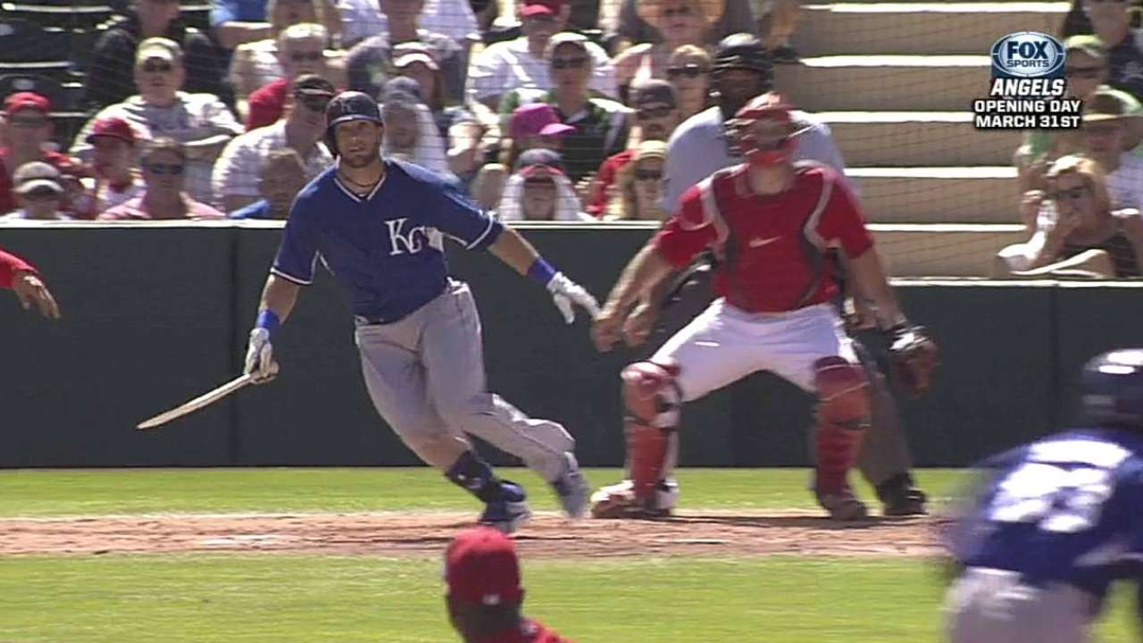 Royals' quick start fades against Angels' regulars