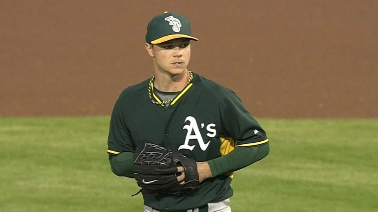 A's keep starting pitchers away from AL West foes