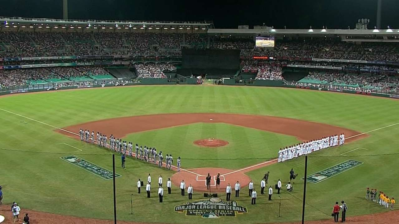 Introductions at Opening Series