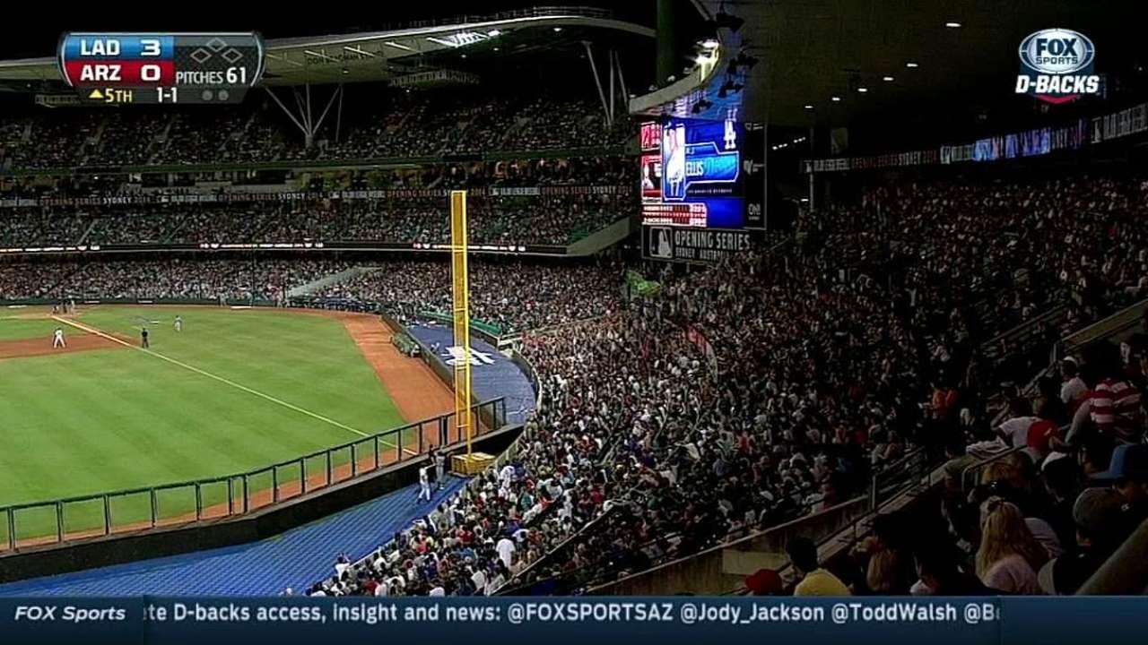 Fans Down Under appreciate MLB experience