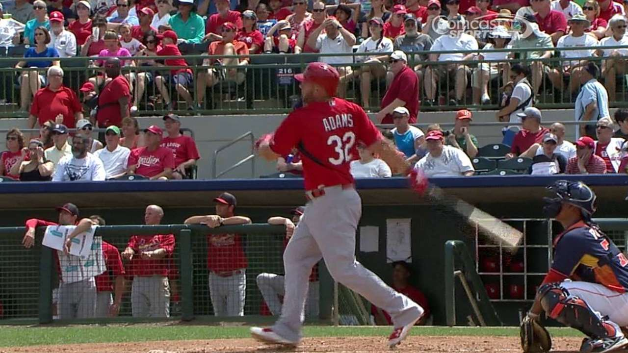 Slugger Adams could bunt to beat the shift