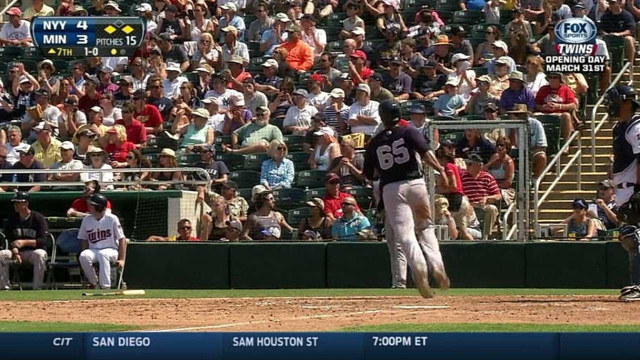 Tanaka falla pero Yankees le pegan a los Mellizos