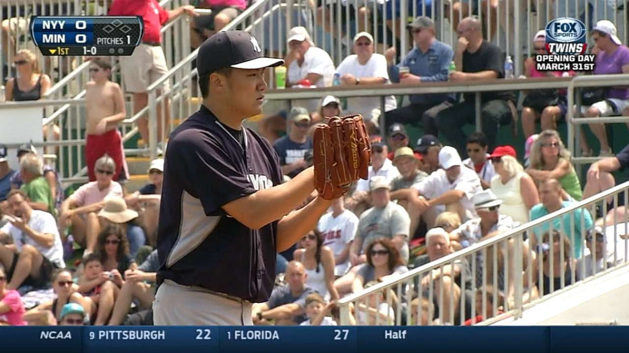 Tanaka not yet thinking about first MLB start