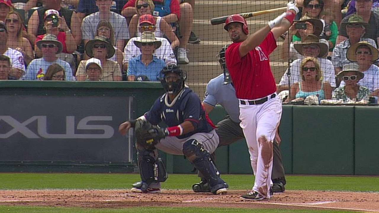 Pujols helps Halos extend spring win streak