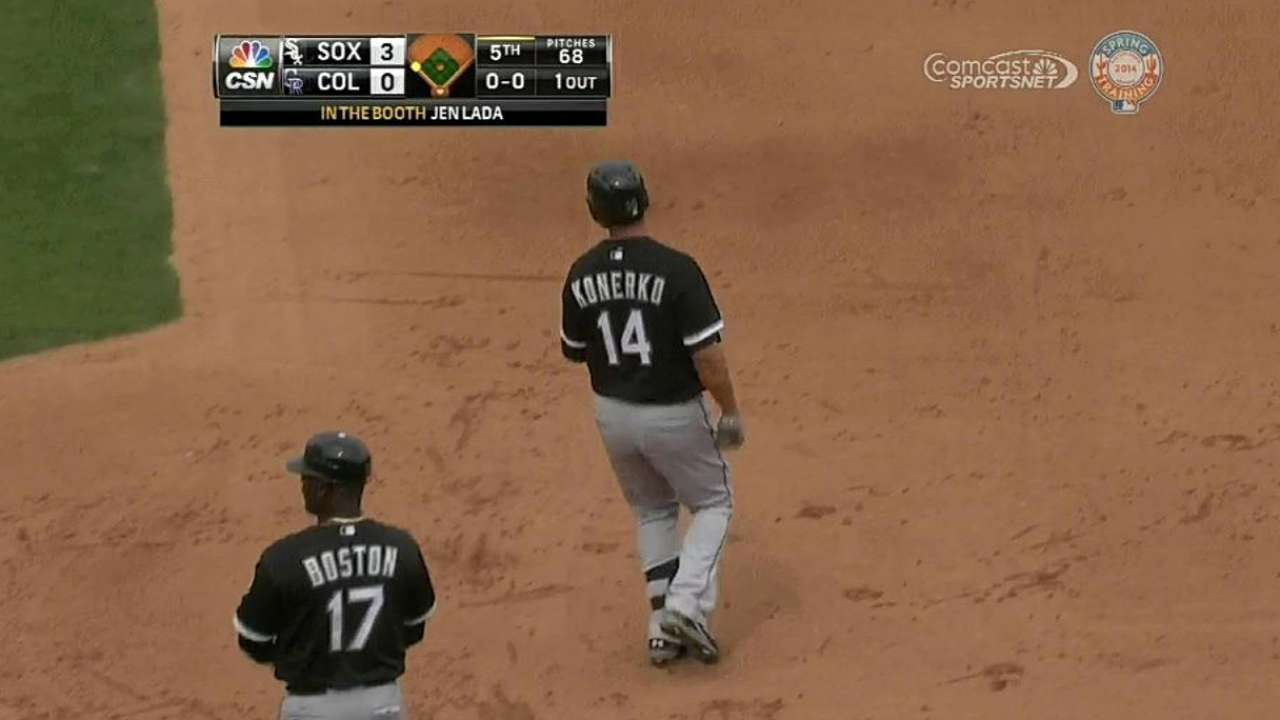 Quintana's gem ends in tie with Rockies