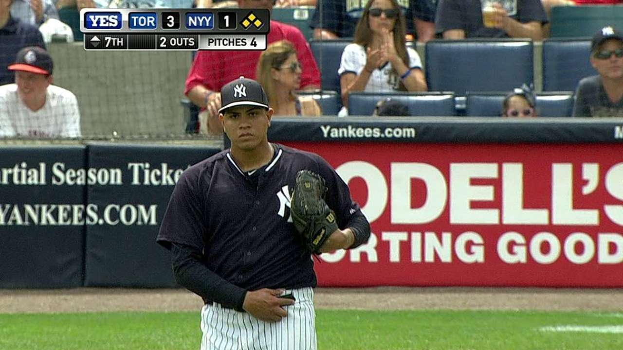 Bullpen hopeful Betances comes up big in seventh