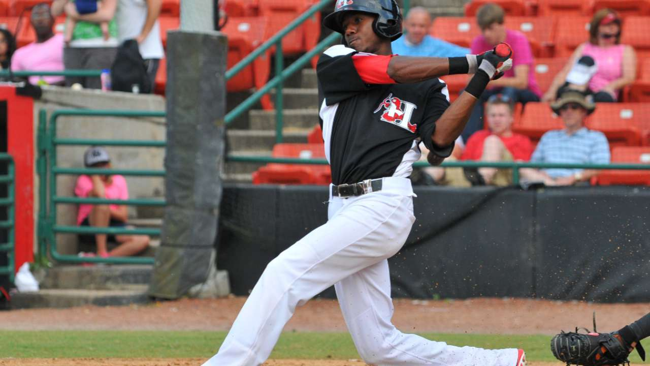 Prospects Brinson, Mazara homer twice for Hickory