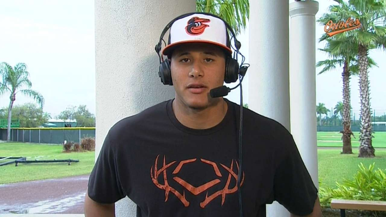 Machado 'just trying to get ready as fast as I can'