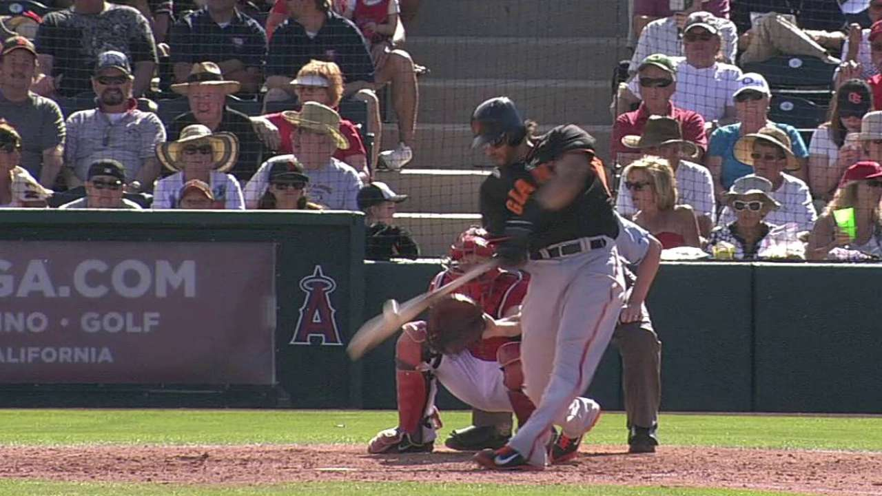 Morse raps two hits, drives in two vs. Angels