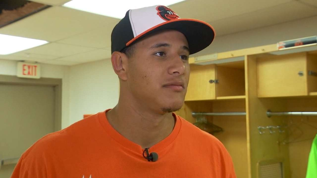 Machado takes part in Opening Day ceremonies