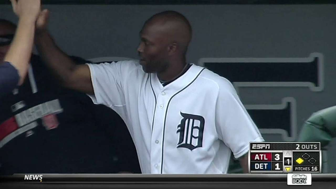 Torii getting his swings in Tigers' No. 5 spot