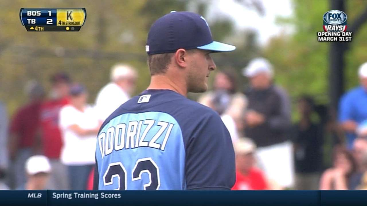 Odorizzi happy with first outing as No. 5 starter