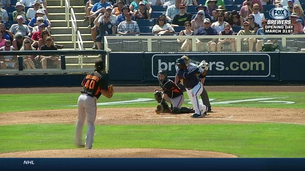 Bumgarner shrugs off allowing three Brewers homers