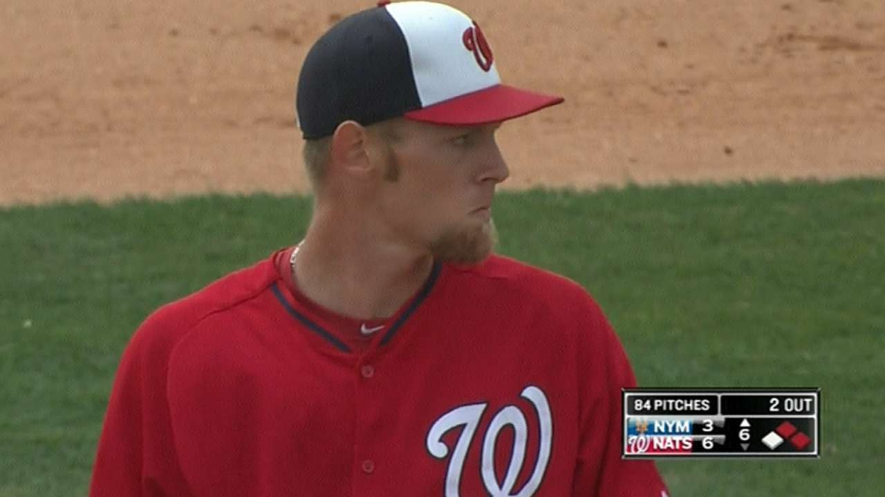 Strasburg much more comfortable with slider